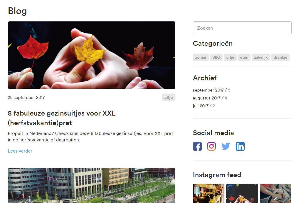 Blog pagina